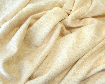 Vintage Velour Fabric, Beige Fabric, Soft Textured Fabric, Sewing Supplies, Sewing Fabric, Clothing Fabric, Skirt Fabric,Purse Fabric,Yellow