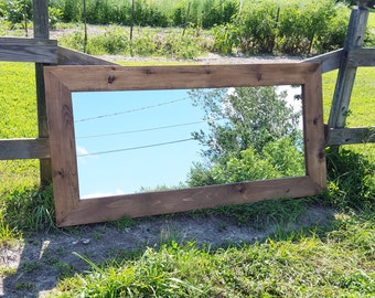 Large Mirror - 38 x 78  wide frame - Custom Mirrors - Home Decor - Wide Frame