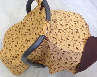 Car Seat Cover Canopy-Brown
