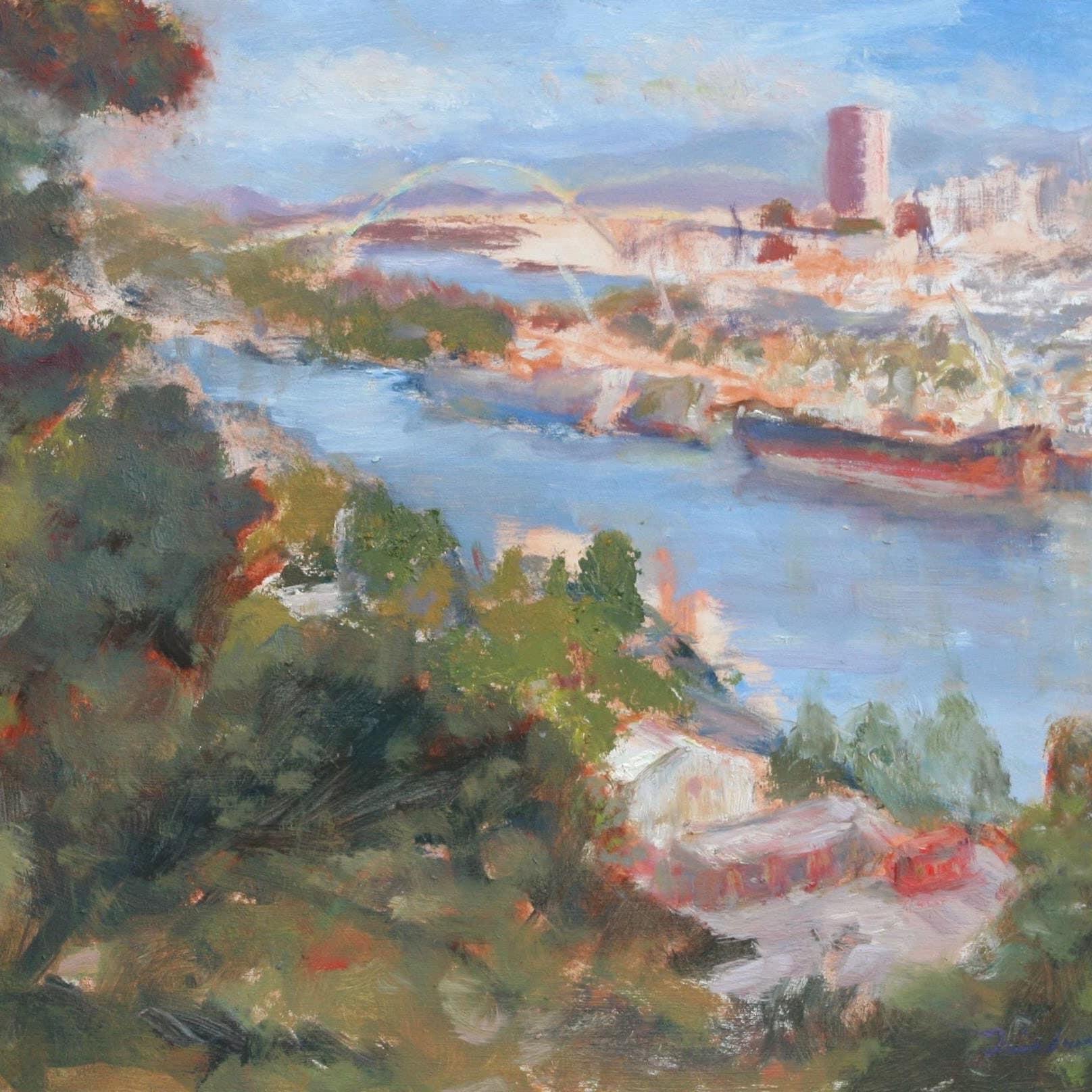 Minneapolis Painters: Downtown Minneapolis Skyline From Lake Calhoun Painting