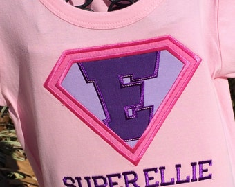 Girls Super Hero Birthday Shirt