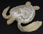 Large Hand made Ceramic Sea Turtle Wall hanging/coffee table decor by Shayne Greco Beautiful Mediterranean Pottery