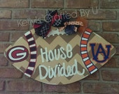 House Divided Football Door Hanger