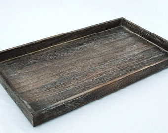 Rustic Antique Coffee Color Wood Bead/Jewelry Sorting Tray