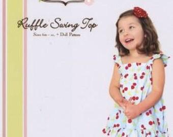 Ruffle Swing Top Little Lizard King Sewing Pattern Sizes 3m-10