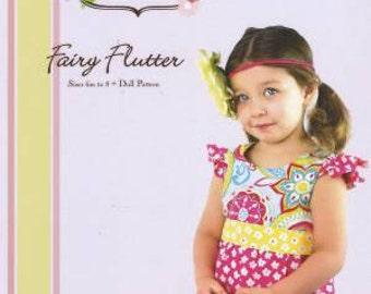 Fairy Flutter Dress Little Lizard King Sewing Pattern Sizes 6m-8 and Doll Pattern