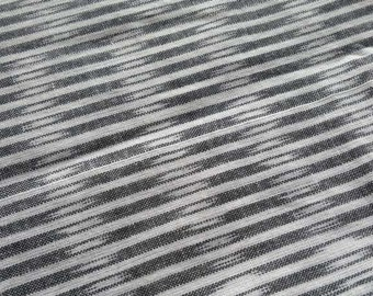 Grey Ikat Fabric By The Yard, Unique Indian Cotton, Ethnic Print Fabric, Indian Fabric, Handloom Fabric, Ikat Fabric, Indian Cotton