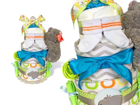 Chevron diaper cake baby shower cakes jungle themed baby shower