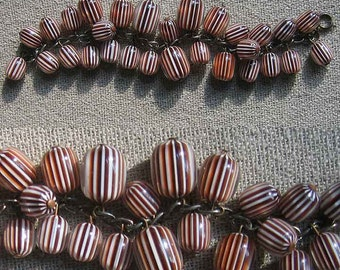 Vintage Bracelet Dangling Rootbeer Baubles