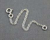 "Necklace extender - 1"" , 2"", 3"", 4"" or 5"", sterling silver extender chain"