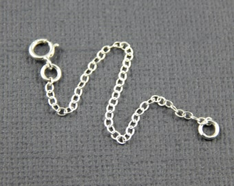 "Necklace extension chain - 1"" , 2"", 3"", 4"" or 5"", sterling silver extender chain"