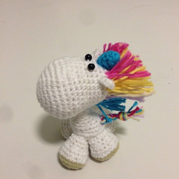 Palm Size Unicorn Crochet Amigurumi keychain