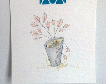 plant life no.4- an original watercolor illustration