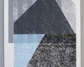 Untitled GRAPHIC DESIGN silkscreen print 24 x 36 INCHES