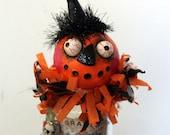 Halloween Pumpkin Zombie Poison Bottle Folk Art Decoration