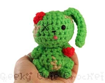 Zombunni Amigurumi Zombie Halloween Crochet Plush Toy Creepy Bunny
