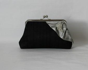 Wedding Clutch - Bridal Clutch - Wedding Purse - Bridesmaids Clutch - Bridesmaid Gifts - Black Clutch Purse - Wedding Gifts - Giselle Clutch