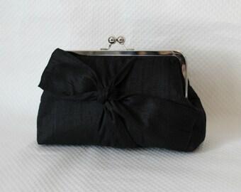 Black Bridal Clutch - Bridal Purse - Wedding Clutch - Bridesmaids Clutch - Wedding Purse - Bridesmaid Gifts - Black Clutch - Samantha Clutch