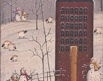 WINTER,Primitive Artwork, *REDUCED PRICE*