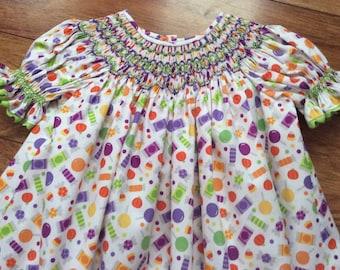Girl's, Toddler's Hand Smocked Short Sleeve Bishop dress - Size 18m