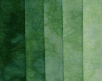 Hand Dyed Fabric Shades - Conifer