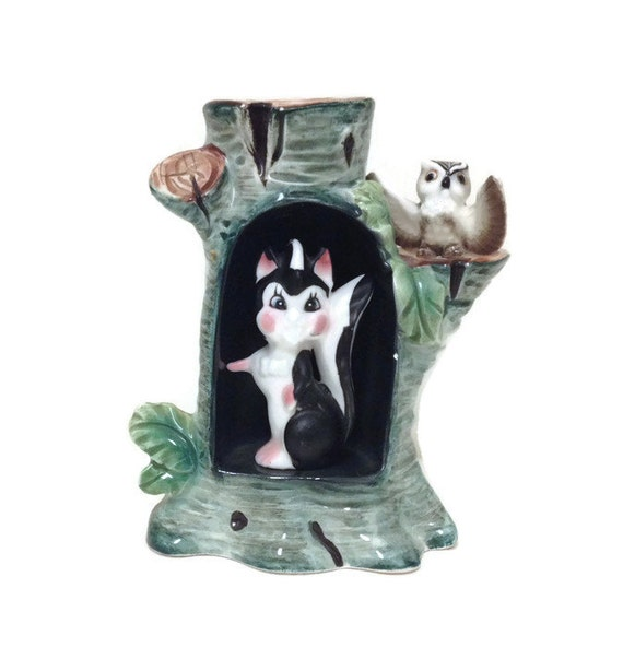 Victoria Ceramics Tree Stump for Displaying Little Treasures - Made in Japan