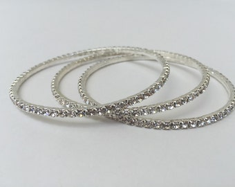 Rhinestone Bracelet, Bangle, Wedding Jewelry, Crystal Bracelet, Wedding Bracelet, Accessories, Holidays, New Years
