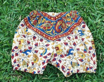 Hippie Kids Bloomer pants - Red Blue Paisley - size 6-9 months -Boys or Girls-read measurements