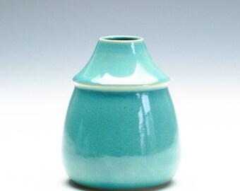 Aqua Green Small Vase/ Ceramic Vase