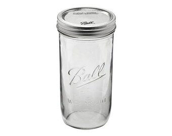 Wide Mouth Ball Mason Jar 24 oz.