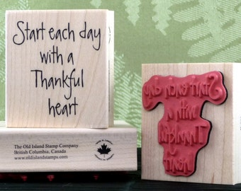 A Thankful Heart rubber stamp from oldislandstamps