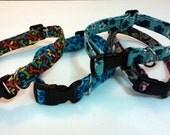 Dog Collar Fabrics Collars Medium Size - Ready To Ship - Various Colors Adjustable Sizes