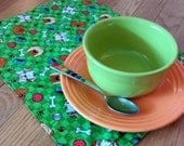 Puppy Dog Fabric Placemats with Dog Bones Table Runner Table Linens Table Cloth with Dogs