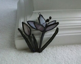 Stained Glass Crocus Suncatcher
