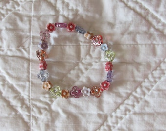 Little Girls Stretchy Flower Bracelet