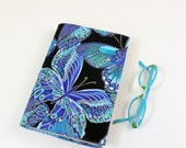 CUSTOM ORDER for BARBARA - Butterflies Paperback Book Cover - Turquoise Blue Butterflies