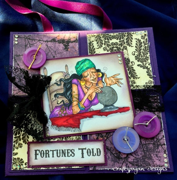 Fortune Teller Halloween Hanging Sign-Fortunes Told-Ready to Ship-OOAK
