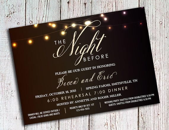 Wedding Welcome Dinner Invitation Wording: Rehearsal Dinner Invitations Rustic Party Invitations