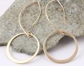 Brass Hoop Dangle Earring