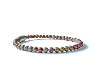 Burgundy Picasso Magnetic Hematite Therapy Bracelet, Pain Relief Jewelry