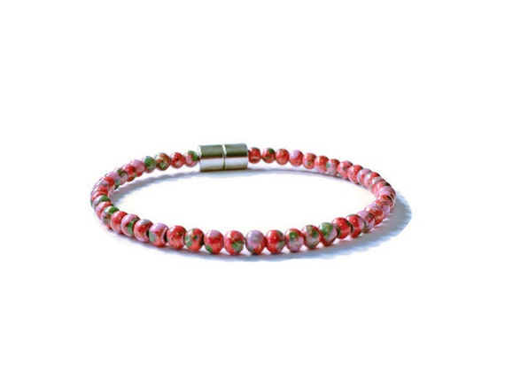 Red Hematite Beads Red Picasso Mag...