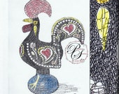 Artwork with additional color and additional calligraphy depicting a Hobby, Passion, Collection (11x14) Reserve for Katie