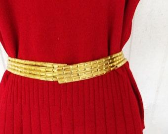 Vintage Christian Dior Belt, Ladies Belt, Metallic Belt, Ladies Accessories, Metallic Dress Belt, Dressy Belt, Designer Belt, Christian Dior