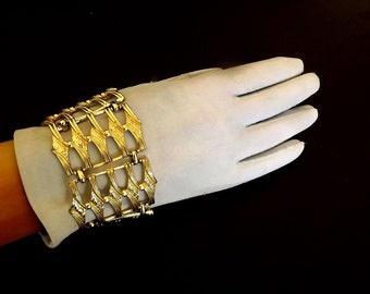 Vintage Bracelet, Chunky Bracelet, Cuff Bracelet, Designer Signed, Coro Jewelry, Coro Bracelet, Dressy Casual Jewelry, Accessories