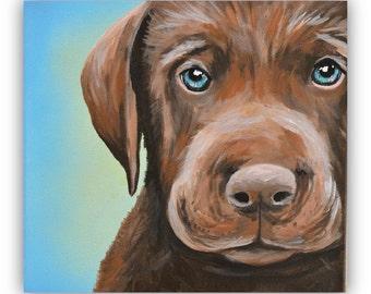 Custom Pet Portrait size 8x10 canvas