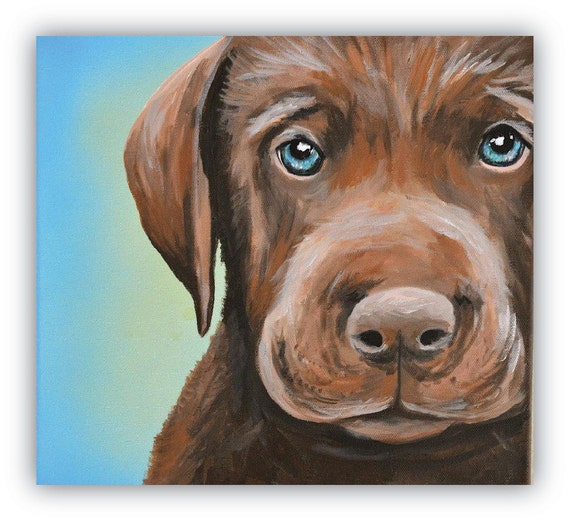 Custom Pet Portrait size 8x10 canvas
