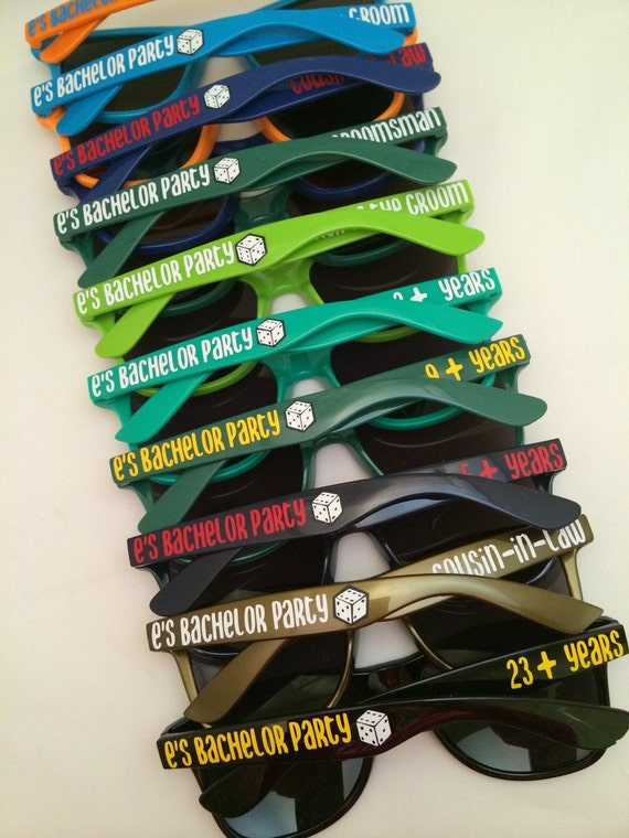Bachelor Party Favors, Stag Party, Guys Night, Last Night Out, Custom Sunglasses, Personalized Sunglasses, Groomsman Gifts, Vegas Party,