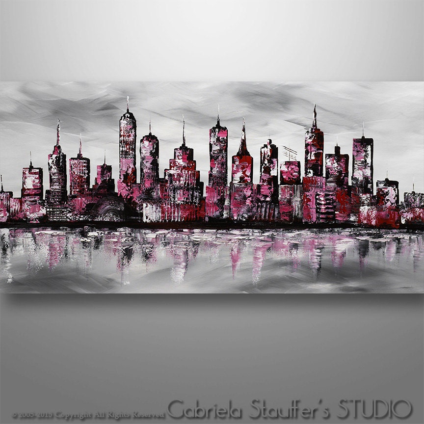 Abstract Cityscape Abstract Painting Cityscape Painting