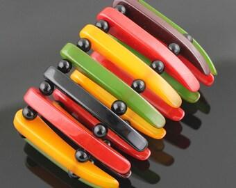 SALE - Deco Bakelite Stretch Bracelet -DOWN FROM 495.00