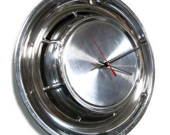 1957 Pontiac Hub Cap Clock - Bonneville Catalina Star Chief Super Chief Chieftain Savoy Safari Wagon Hubcap Wall Decor